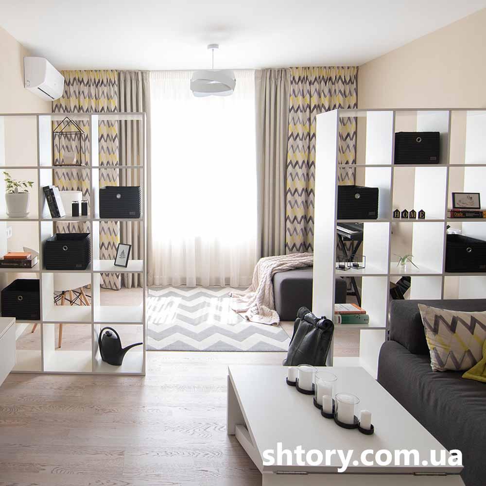 Шторы для гостиной в современном стиле