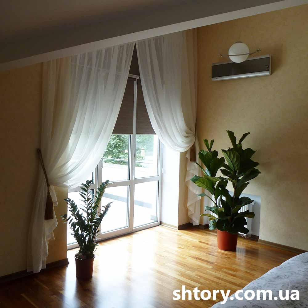 Шторы для спальни в частном доме Киев